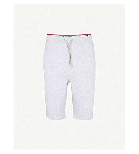 MOSCHINO Tape-detail cotton-jersey shorts (Grey