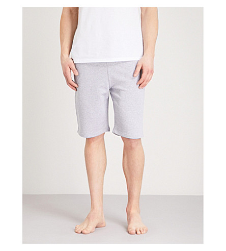 MOSCHINO Tape-detail cotton-jersey shorts (Grey