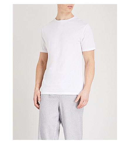 HAMILTON & HARE Short-sleeved cotton-jersey T-shirt (White
