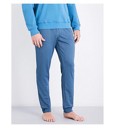 EMPORIO ARMANI Cuffed jersey pyjama trousers (Denim+marl