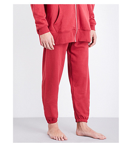 LES GIRLS LES BOYS Loopback stretch-cotton jogging bottoms (Red