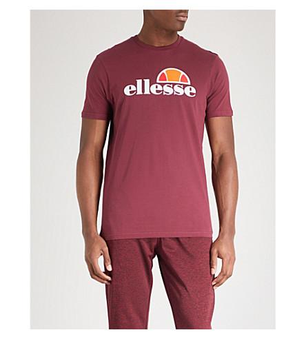 ELLESSE Logo-print cotton-jersey T-shirt (Burgundy