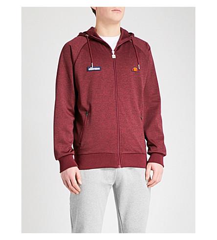 ELLESSE Marl-pattern jersey hoody (Burgundy
