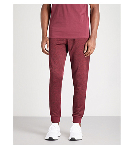 ELLESSE Giardello relaxed-fit jersey jogging bottoms (Burgundy