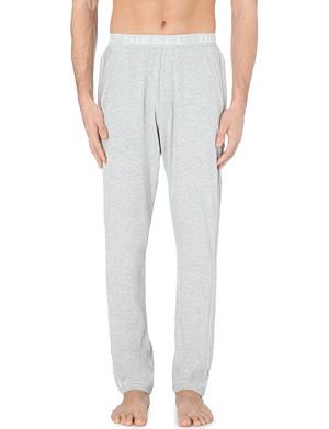 DIESEL Logo waistband cotton jersey jogging bottoms