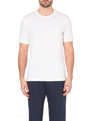 HUGO BOSS Crew-neck cotton-blend t-shirt