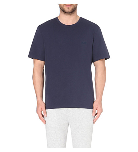 HUGO BOSS Logo-detail cotton-jersey t-shirt (Navy