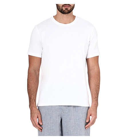 HUGO BOSS Logo-detail cotton-jersey t-shirt (White