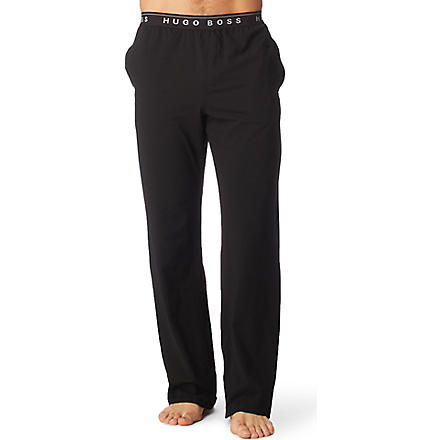 HUGO BOSS Stretch–cotton pyjama bottoms (Black