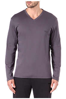 HUGO BOSS Long-sleeved v-neck t-shirt