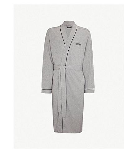 BOSS Kimono cotton dressing gown (Grey