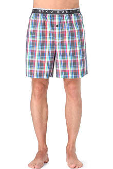 HUGO BOSS Checked pyjama shorts