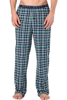 HUGO BOSS Checked woven pyjama trousers