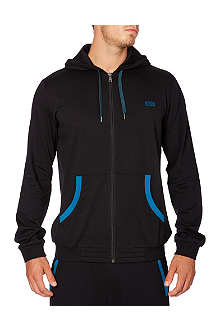 HUGO BOSS Zip-up logo hoodie