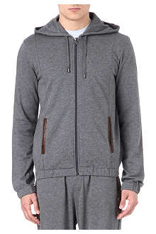 HUGO BOSS Leather trim hoody
