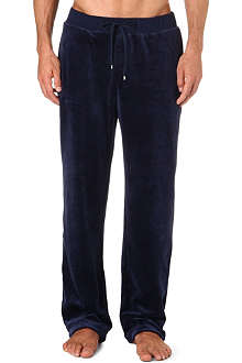 HUGO BOSS Velour jogging bottoms