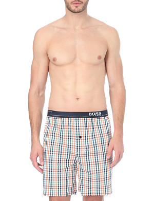 HUGO BOSS Checked woven boxer shorts
