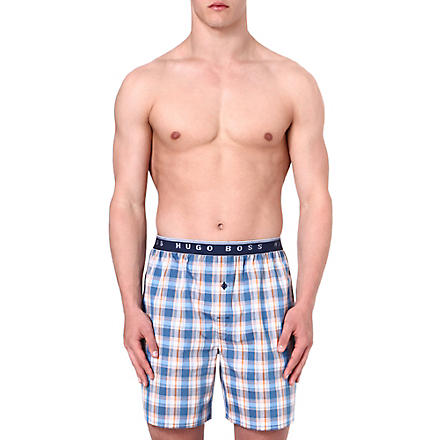 HUGO BOSS Checked woven boxer shorts (Multi