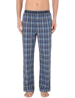 HUGO BOSS Checked woven pyjama trousers