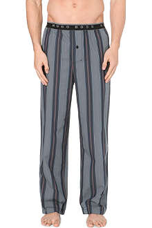HUGO BOSS Striped woven-cotton pyjama bottoms