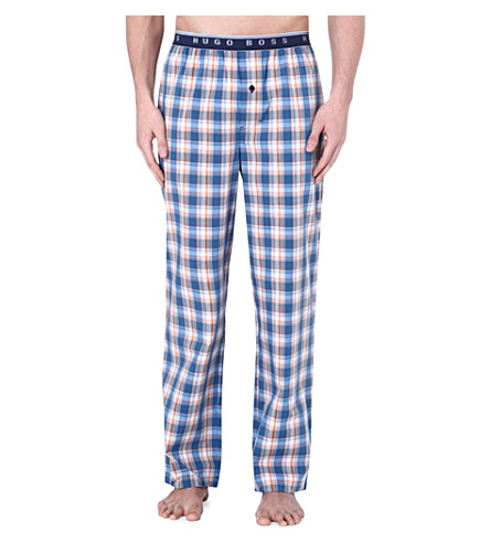 HUGO BOSS Checked cotton pyjama bottoms (Multi