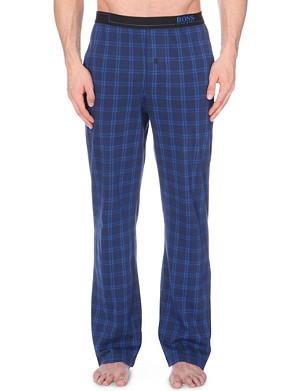 HUGO BOSS Checked cotton jersey pyjama bottoms