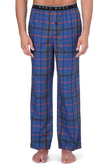 HUGO BOSS Checked cotton pyjama bottoms