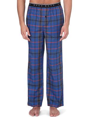 HUGO BOSS Checked cotton pyjama bottoms