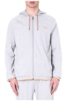 HUGO BOSS Contrast-trim zip-up hoody