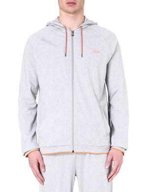 HUGO BOSS Contrast-trim zip-up hoody