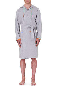 HUGO BOSS Hooded cotton robe