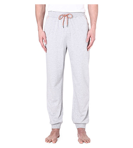 HUGO BOSS Contrast-trim cuffed jogging bottoms (Grey