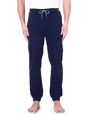 HUGO BOSS Contrast-trim cuffed jogging bottoms
