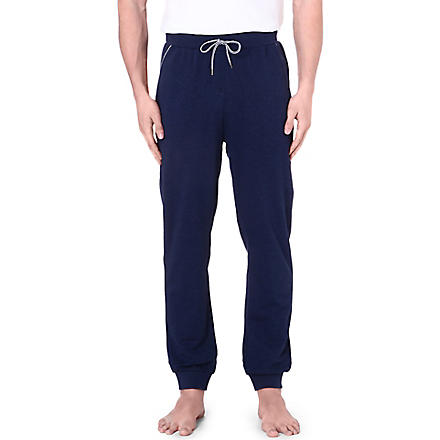HUGO BOSS Contrast-trim cuffed jogging bottoms (Navy