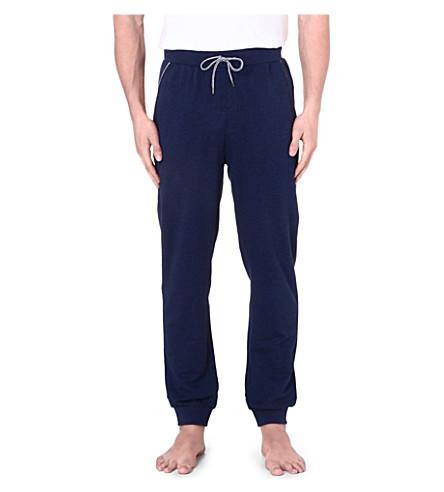 HUGO BOSS Contrast-trim cuffed jogging bottoms (Navy