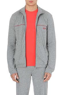 HUGO BOSS Logo-detail cotton-jersey jacket