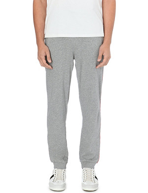 HUGO BOSS Logo-detail cotton-jersey jogging bottoms