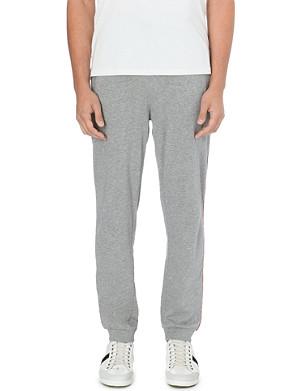 HUGO BOSS Logo-detail cotton-jersey jogging bottoms