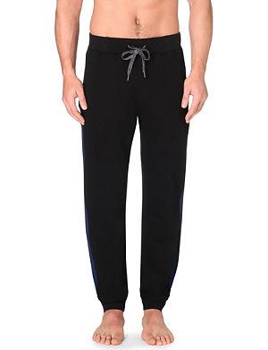 HUGO BOSS Striped cotton-jersey jogging bottoms
