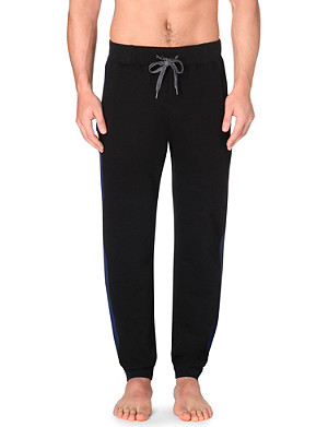 HUGO BOSS Striped cotton-jersey jogging bottoms