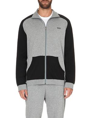 HUGO BOSS Colourblock zip-through jacket