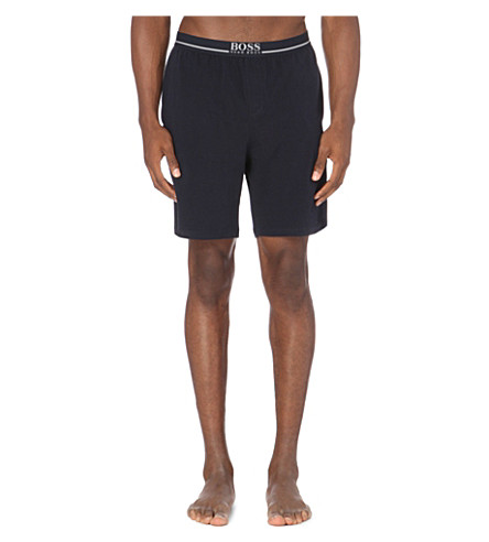 Navy cotton shorts stretch stretch pyjama BOSS Branded BOSS Branded xSvPq8