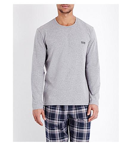 BOSS Crewneck jersey pyjama top (Grey+heather