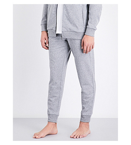 BOSS Heritage logo-print cotton-jersey jogging bottoms (Lt+gry+marl