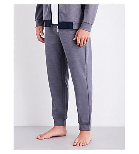 BOSS Tonal jersey jogging bottoms (Grey