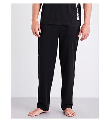 BOSS Identity stretch-cotton pyjama trousers (Blk