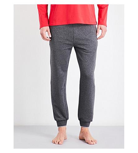 BOSS Authentic contrast-trim cotton-blend jogging bottoms (Grey+red