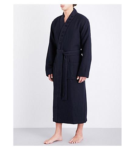 BOSS 华夫图案棉混纺睡衣 (海军