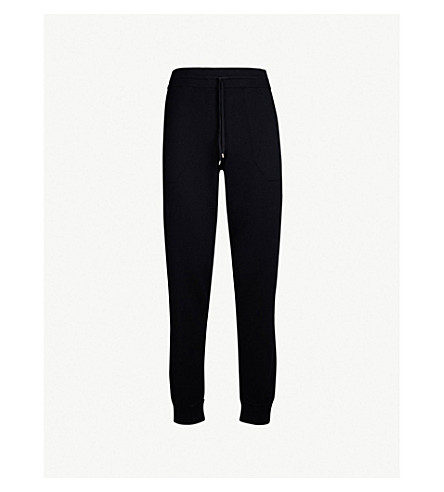 ZIMMERLI Relaxed-fit cotton and cashmere-blend jogging bottoms (Midnight