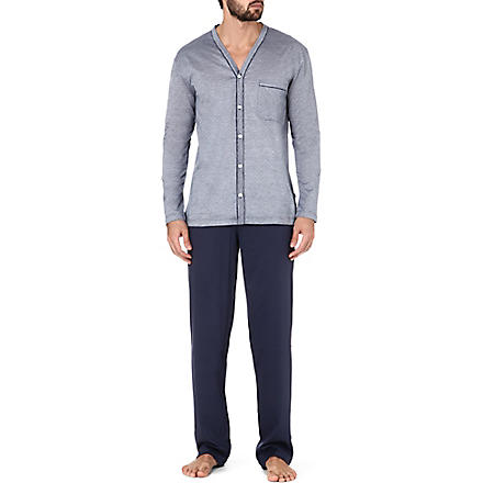 ZIMMERLI Button-up pyjama set (Blue